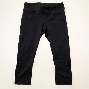 Lululemon Black Cropped Legging Size 10